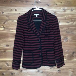 NWOTBanana Republic Red and Black Stripped Blazer